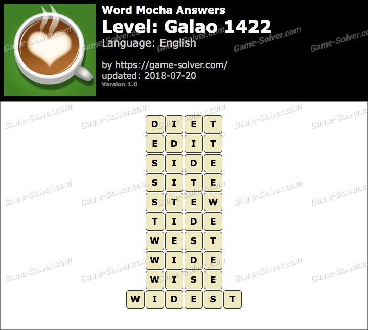 Word Mocha Galao 1422 Answers
