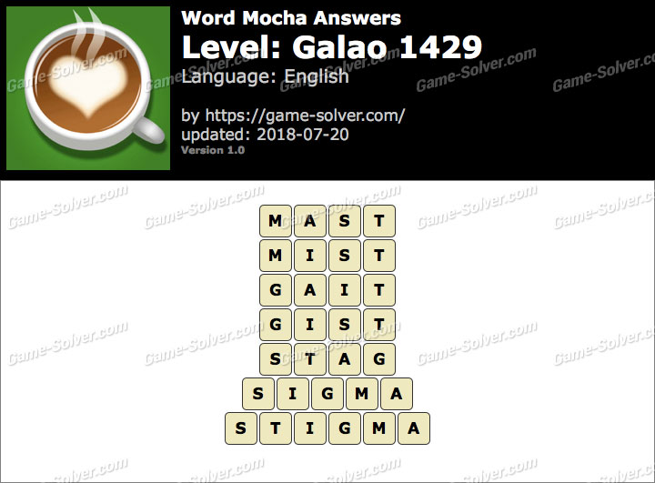 Word Mocha Galao 1429 Answers