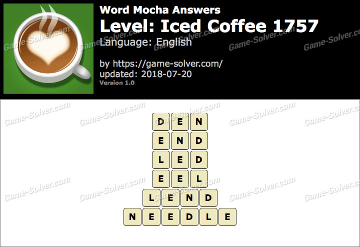 Word Mocha Iced Coffee 1757 Answers