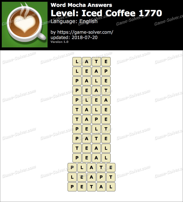 Word Mocha Iced Coffee 1770 Answers
