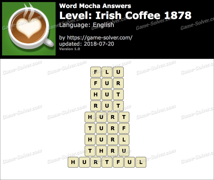 Word Mocha Irish Coffee 1878 Answers