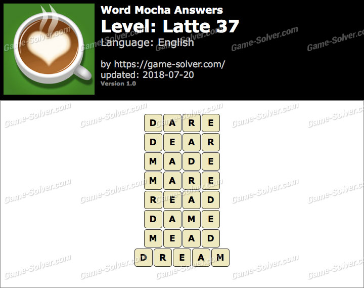 Word Mocha Latte 37 Answers