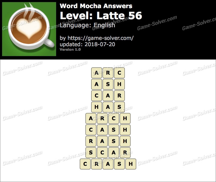 Word Mocha Latte 56 Answers