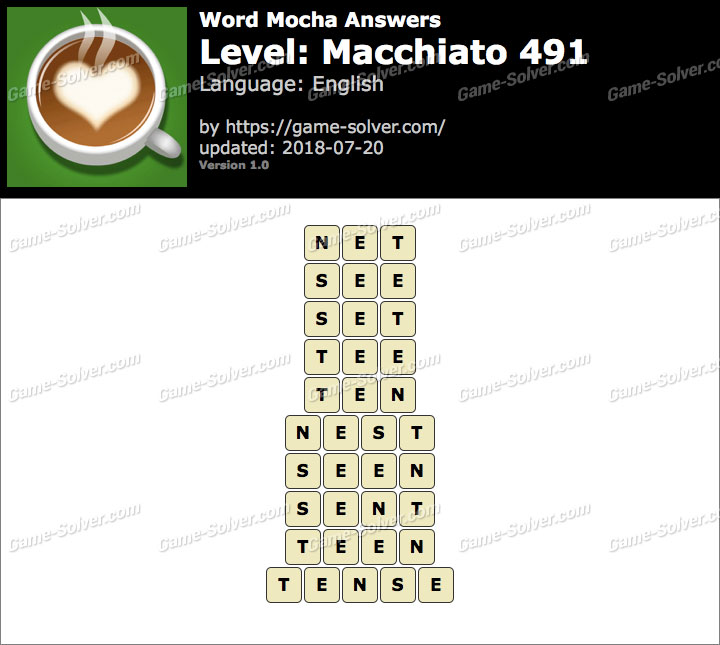 Word Mocha Macchiato 491 Answers