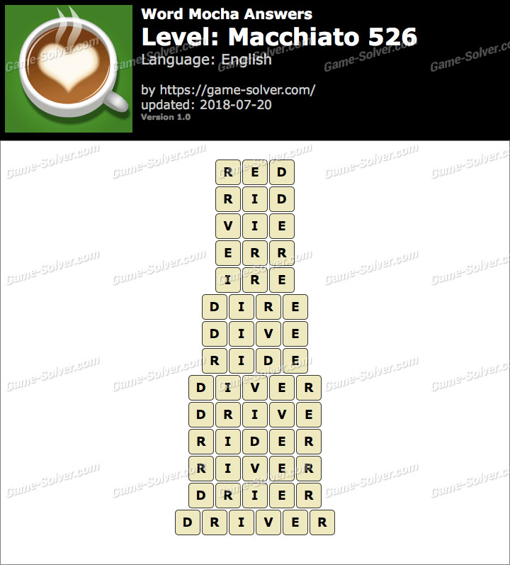 Word Mocha Macchiato 526 Answers