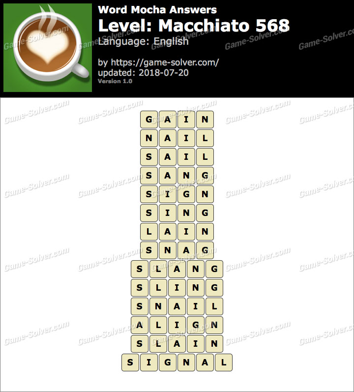 Word Mocha Macchiato 568 Answers