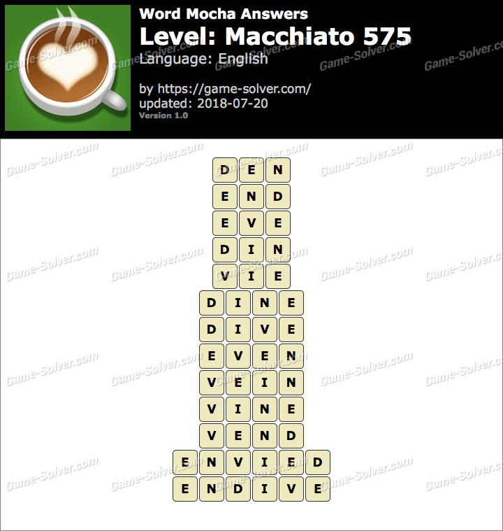 Word Mocha Macchiato 575 Answers