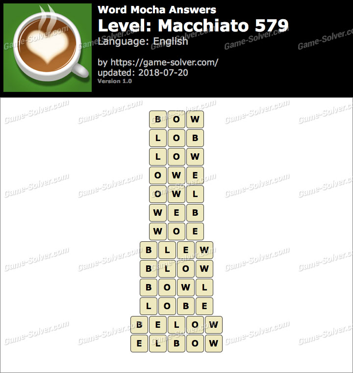 Word Mocha Macchiato 579 Answers