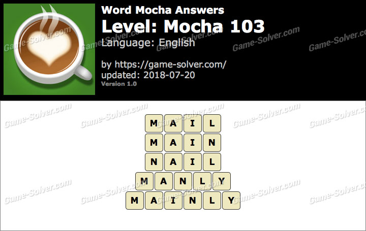 Word Mocha Mocha 103 Answers