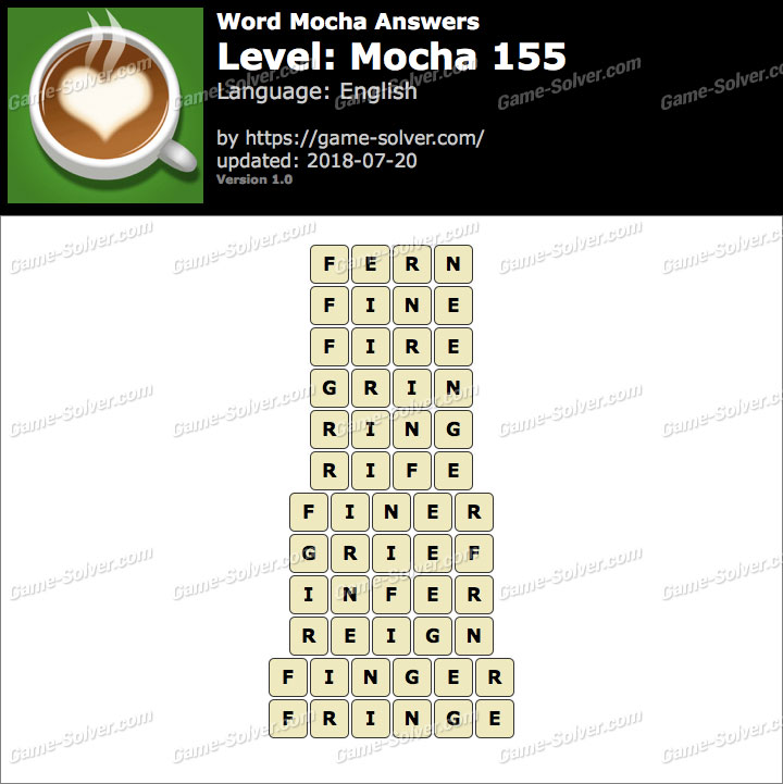 Word Mocha Mocha 155 Answers