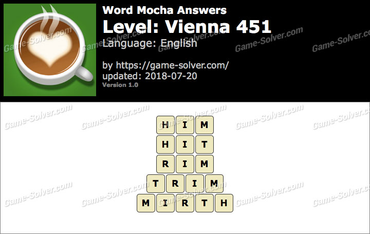 Word Mocha Vienna 451 Answers