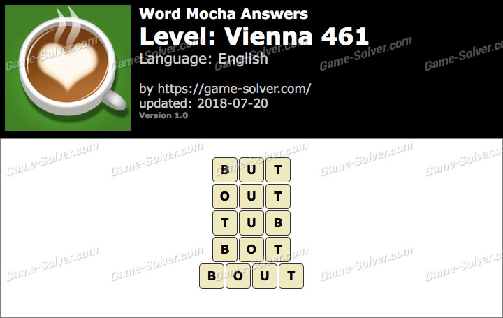 Word Mocha Vienna 461 Answers