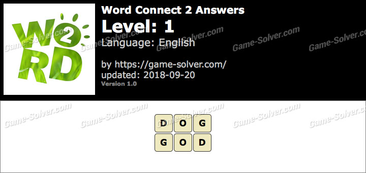 Word Connect 2 Level 1 Answers