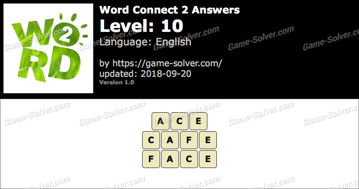 Word Connect 2 Level 10 Answers