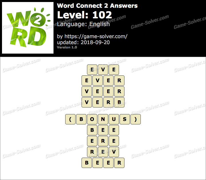 Word Connect 2 Level 102 Answers