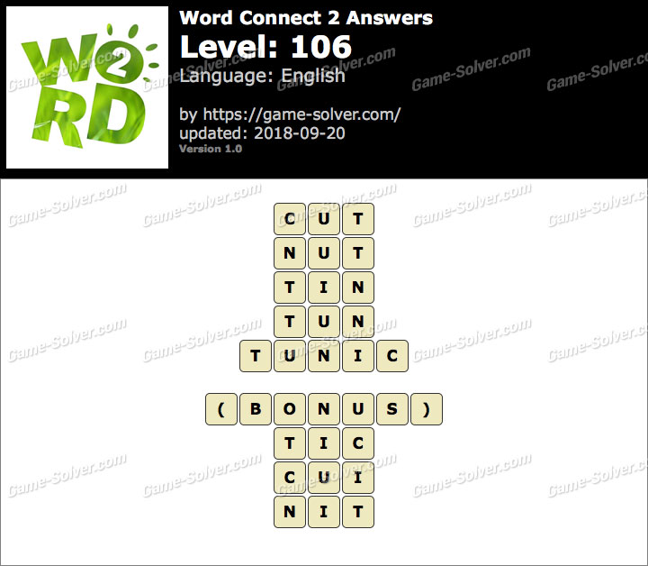 Word Connect 2 Level 106 Answers