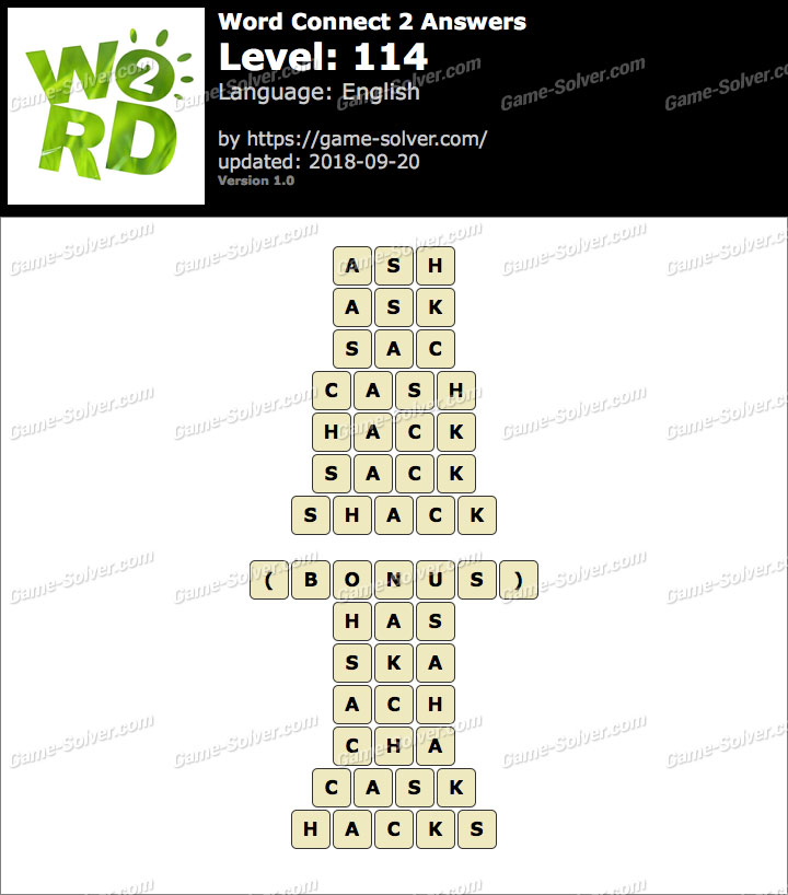 Word Connect 2 Level 114 Answers