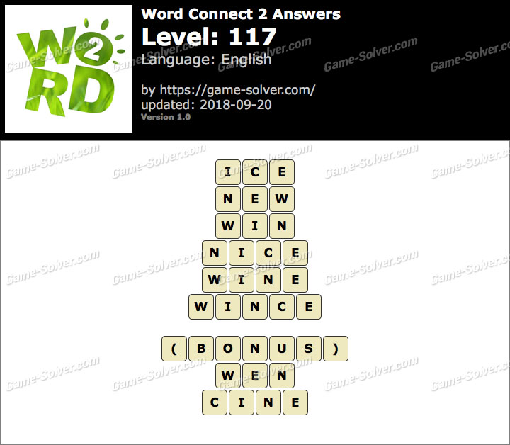 Word Connect 2 Level 117 Answers