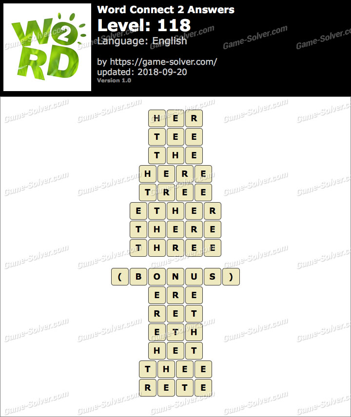 Word Connect 2 Level 118 Answers