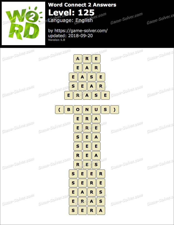 Word Connect 2 Level 125 Answers