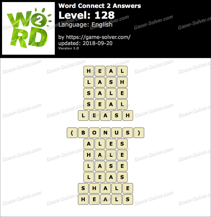 Word Connect 2 Level 128 Answers