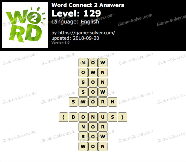 Word Connect 2 Level 129 Answers