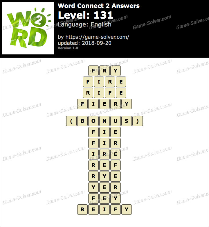 Word Connect 2 Level 131 Answers