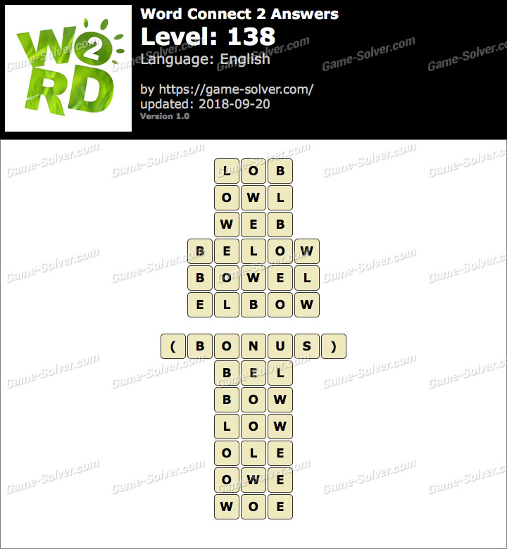 Word Connect 2 Level 138 Answers
