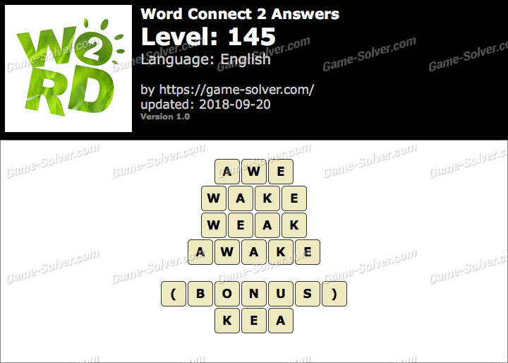 Word Connect 2 Level 145 Answers