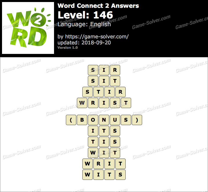 Word Connect 2 Level 146 Answers
