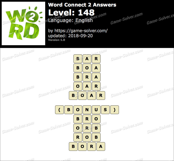 Word Connect 2 Level 148 Answers