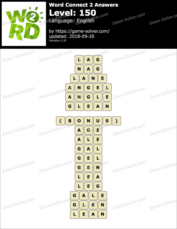 Word Connect 2 Level 150 Answers