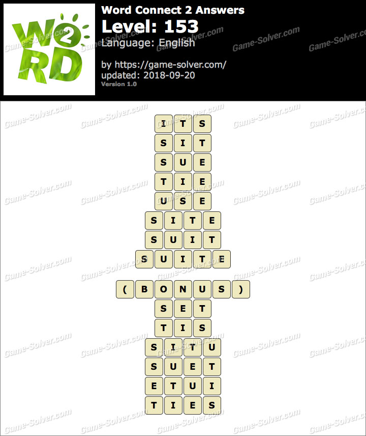 Word Connect 2 Level 153 Answers