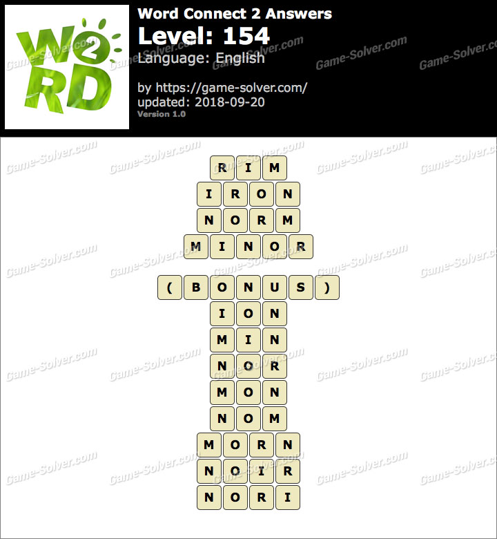 Word Connect 2 Level 154 Answers