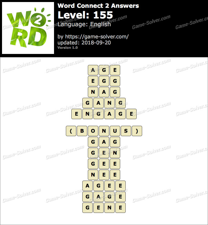 Word Connect 2 Level 155 Answers