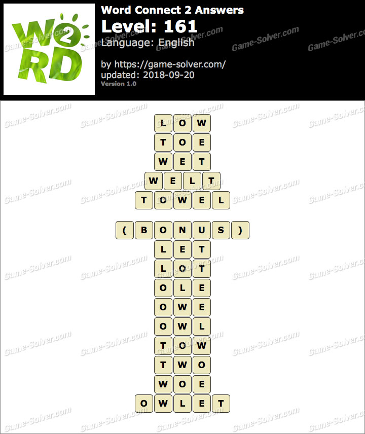 Word Connect 2 Level 161 Answers