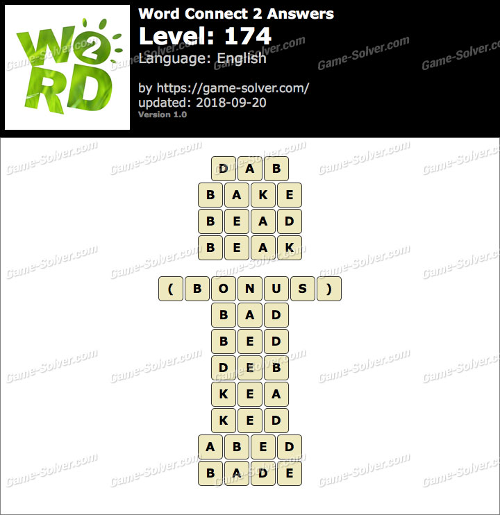 Word Connect 2 Level 174 Answers