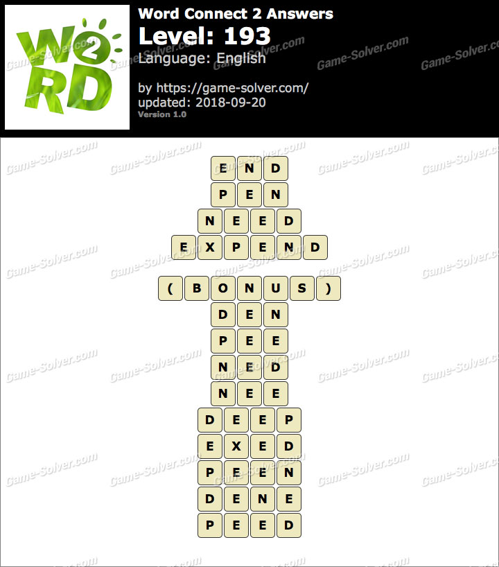 Word Connect 2 Level 193 Answers