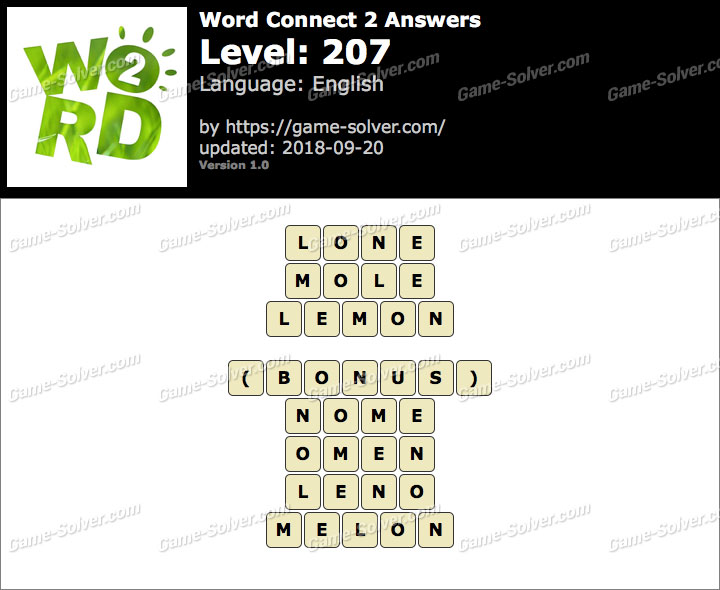 Word Connect 2 Level 207 Answers