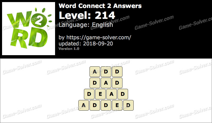 Word Connect 2 Level 214 Answers