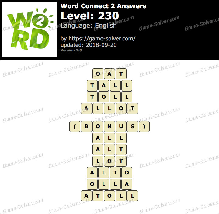 Word Connect 2 Level 230 Answers