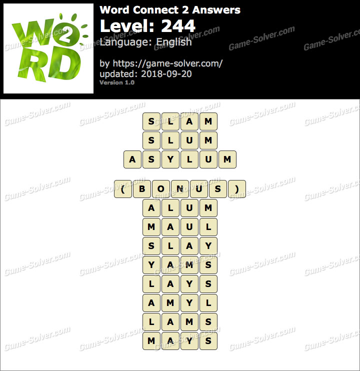 Word Connect 2 Level 244 Answers
