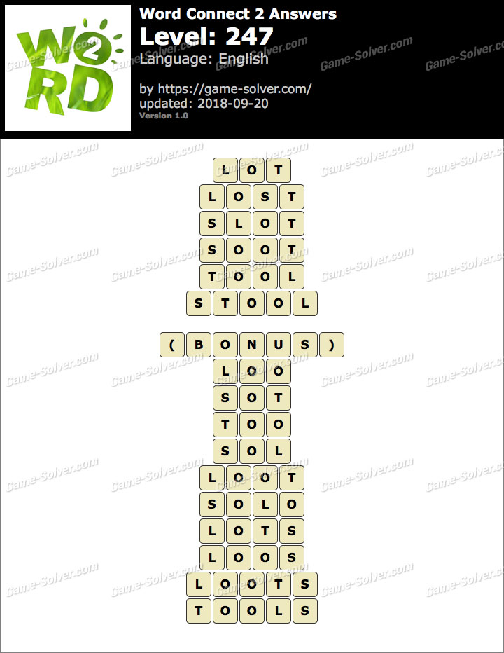 Word Connect 2 Level 247 Answers