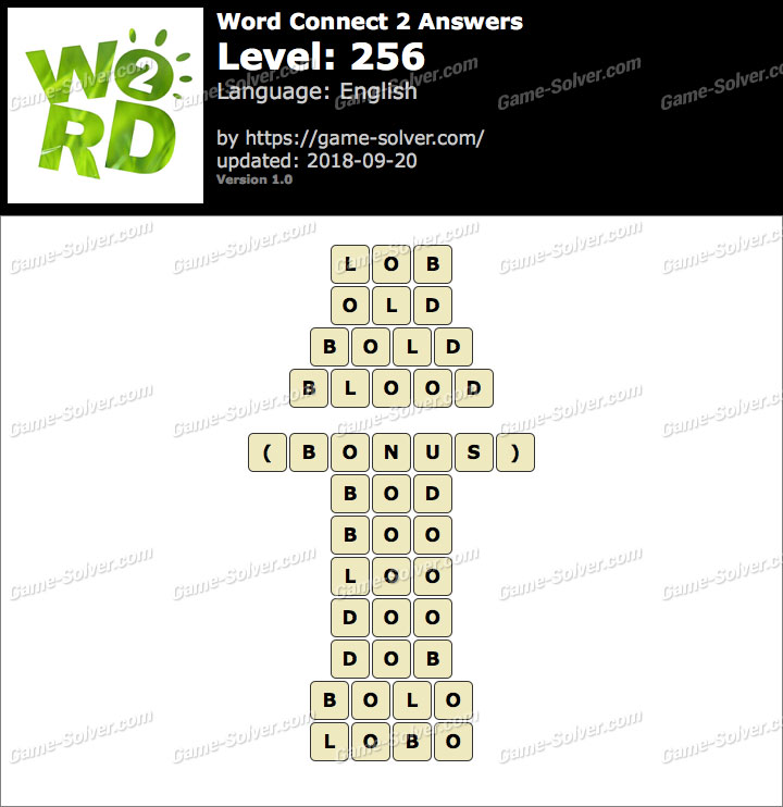 Word Connect 2 Level 256 Answers