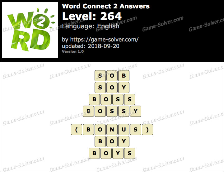 Word Connect 2 Level 264 Answers