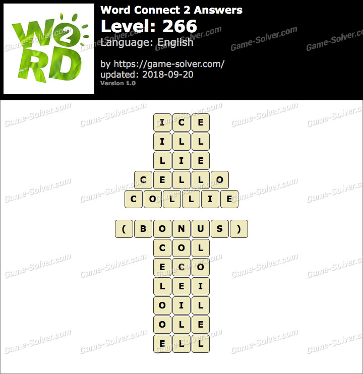Word Connect 2 Level 266 Answers