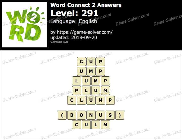 Word Connect 2 Level 291 Answers