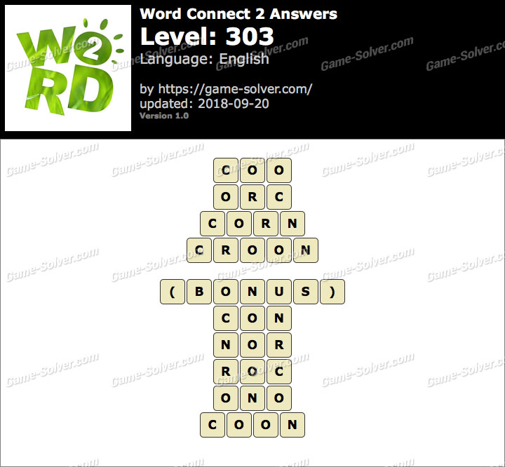 Word Connect 2 Level 303 Answers