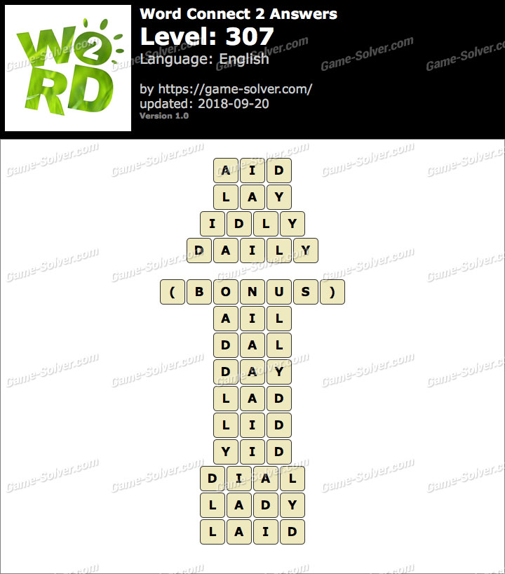 Word Connect 2 Level 307 Answers