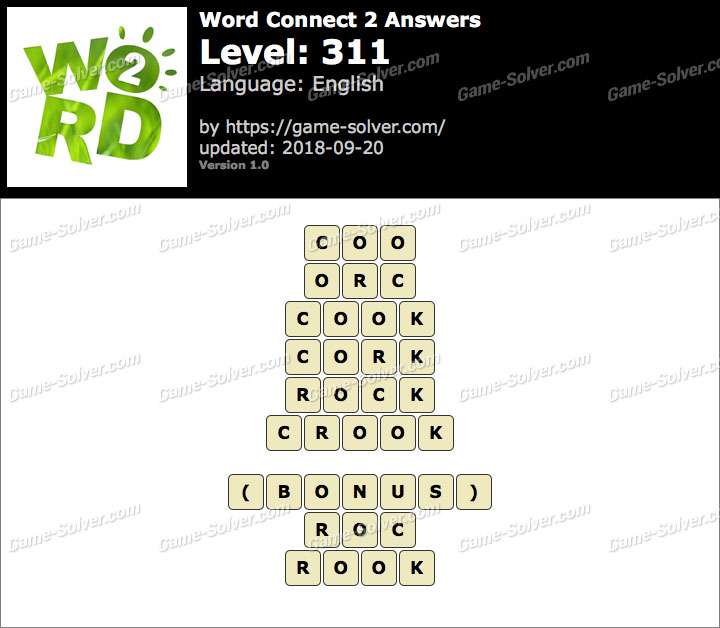 Word Connect 2 Level 311 Answers
